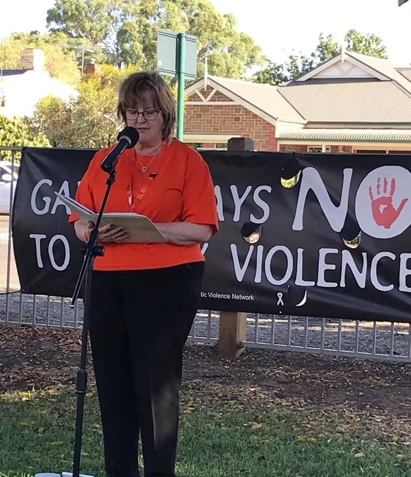 Sandra officiating at the Vigil